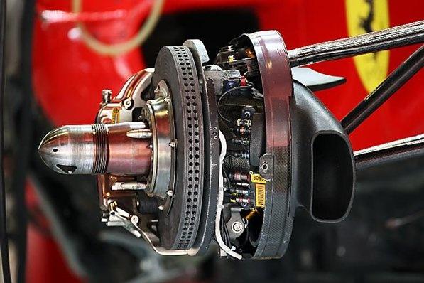 Brakes - Ferrari F10 brake detail.  Formula One World Championship, Rd 5, Spanish Grand Prix, Preparations, Barcelona, Spain, Thursday, 6 May 2010