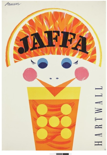Erik Bruuns Jaffa poster in the Builders of the Future exhibition. © Rauno Träskelin. Helsinki. Finland.