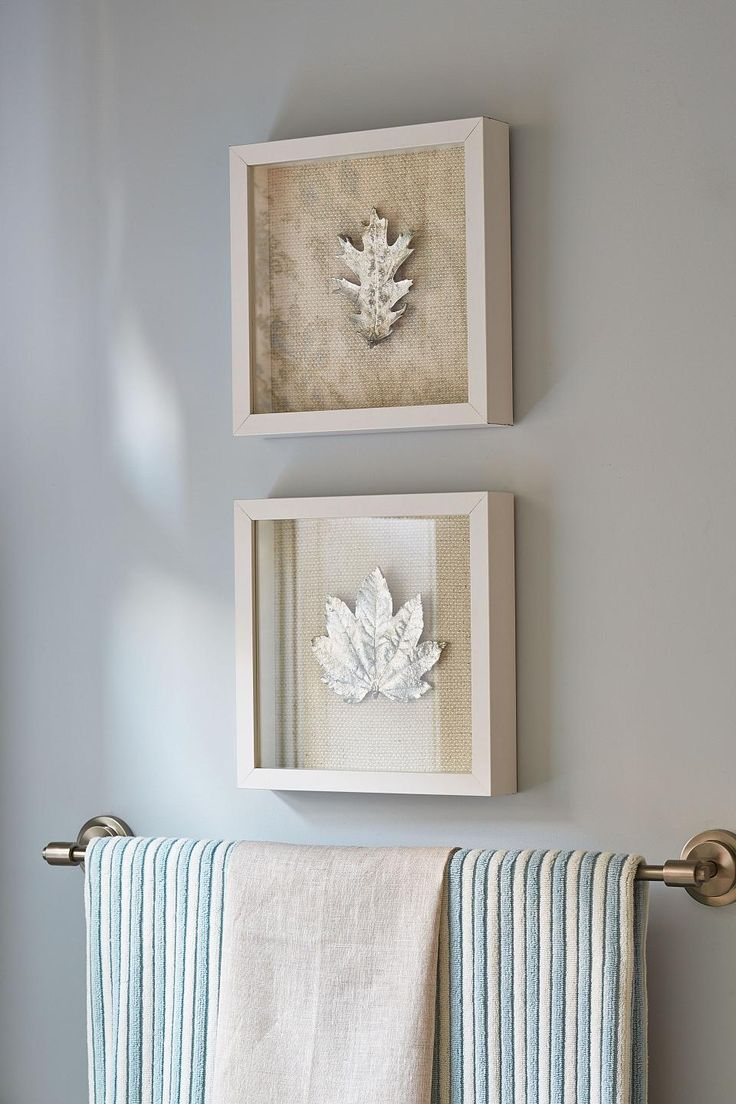 As Seen On Season 1 Of Sarah Sees Potential, Framed Metallic Foliage Makes  Simple, Yet Beautiful Wall Art In This Coastal Bathroom. Amazing Pictures
