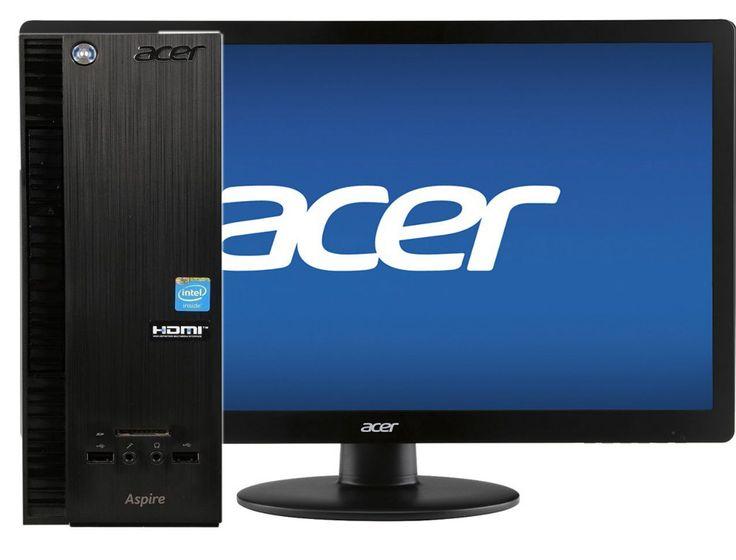"ACER Desktop Computer  19"" Monitor Windows 10 DVDRW 4GB 500GB (FULLY LOADED)"