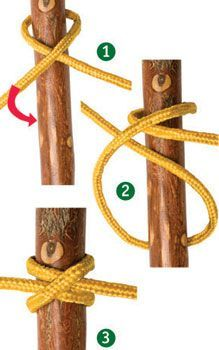 clove hitch knot   5 Knots Everyone Should Know   Essential Knots Knowledge For Survival, check it out at http://survivallife.com/5-knots-everyone-should-know/