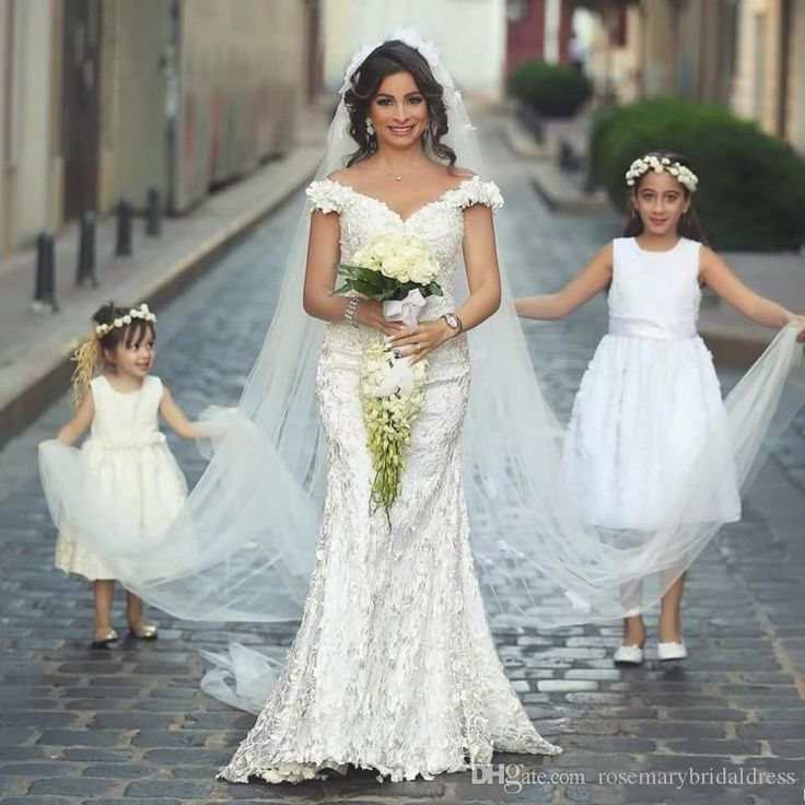 Vestidos De Noiva Off the Shoulder Lace Mermaid Wedding Dresses 2016 Said Mhamad Elegant Bridal Gowns Plus Size 2015 Fall Arabic Wedding Online with $166.5/Piece on Rosemarybridaldress's Store   DHgate.com