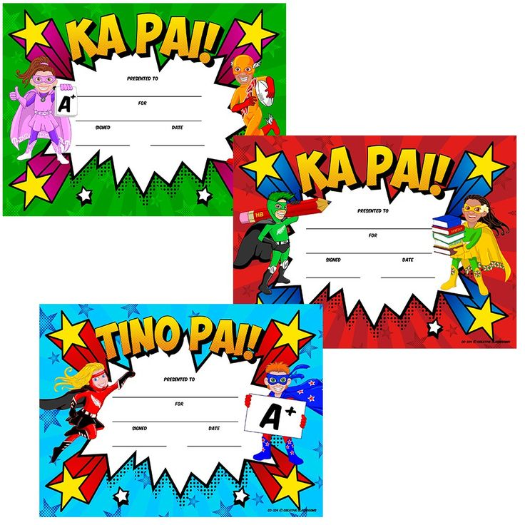 NZ Superheroes Certificates Variety Pack