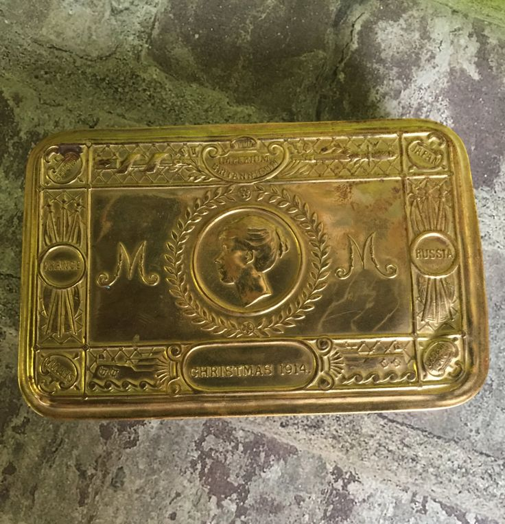 Antique WW1 1914 Princess Mary Gift Tin by ifitsticks on Etsy
