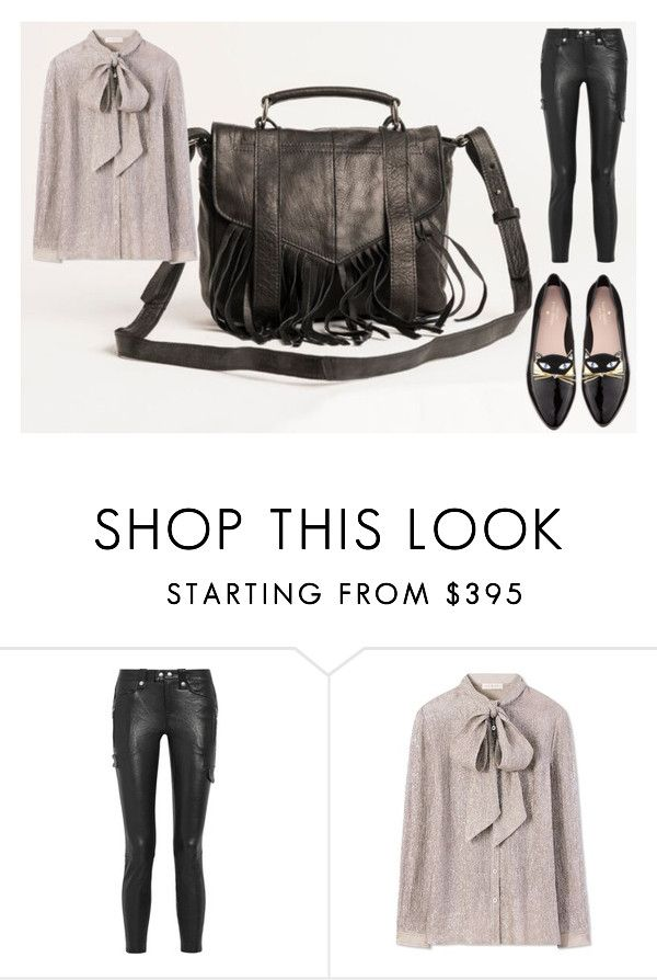 """lether bag"" by avenafashion on Polyvore featuring moda, Frame Denim, Tory Burch i Kate Spade"