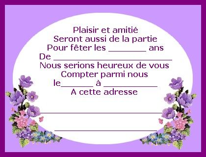 Carte D Invitation Anniversaire Gratuite A Imprimer Quiquequoi