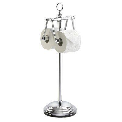 Better Living 54541 The Organized Bath Freestanding Toilet Tissue Holder, Chrome