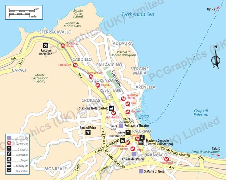map of palermo italy sicily - photo#14