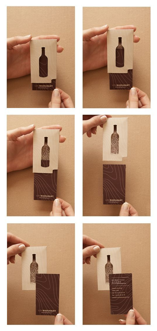 Creative and Artistic design of a Wine in a card!