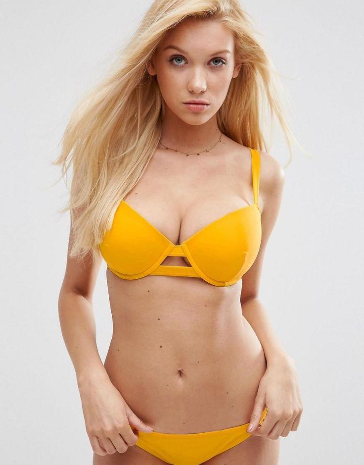 ASOS | ASOS FULLER BUST Exclusive Cut Out Plunge Bikini Top DD-G at ASOS
