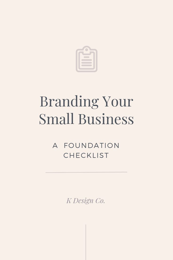 Branding Your Small Business: A Foundation Checklist