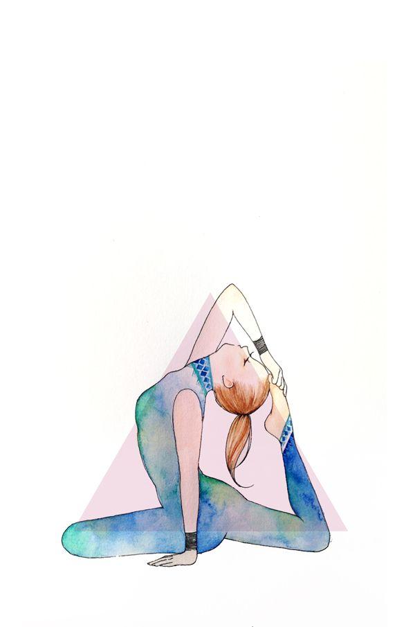 #postura de pombo rei #yoga desenho por Minne
