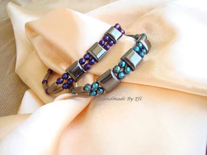 #Handmade_By_Efi #Handmade_Creations_By_Efi #handmadeByEfi #Handmade #Bracelets #style #Woman #women #New #Hematite