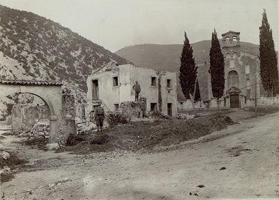 Der Monte Santo bildete gemeinsam mit einigen anderen Erhebungen einen Eckpunkt der österreichischen Verteidigung