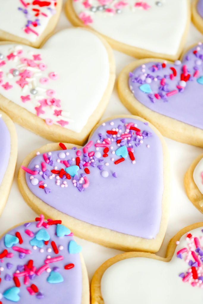 Easy Sprinkle Heart Sugar Cookies Homemade Sugar Cookies Make Perfect Gifts Homemade Sugar Cookies Valentines Cookies Recipe Valentine Sugar Cookie Recipe