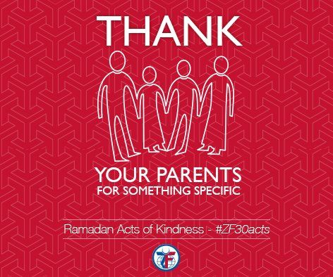 Day 19: Thank your parents for something specific #ZF30Acts