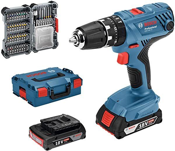 Chollo Atornillador Taladro Percutor Bosch Professional Gsb 18v 21 2 Baterías Por 139 99 Euros Taladro Baterías Herramientas Bosch