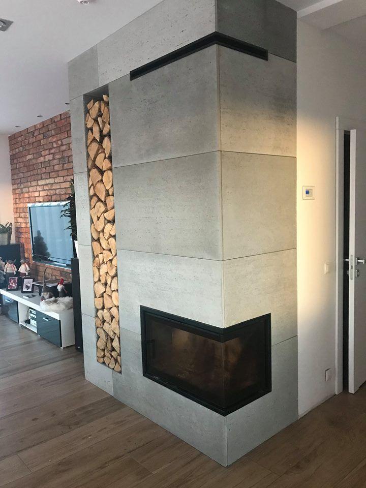 Znalezione Obrazy Dla Zapytania Betonowa ściana W Salonie Home Fireplace Fireplace Design Japanese Home Decor