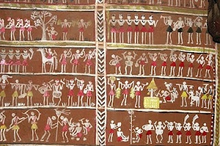 Paintings on the interior walls of the houses of the Lanjia Saora Tribal people from Orissa