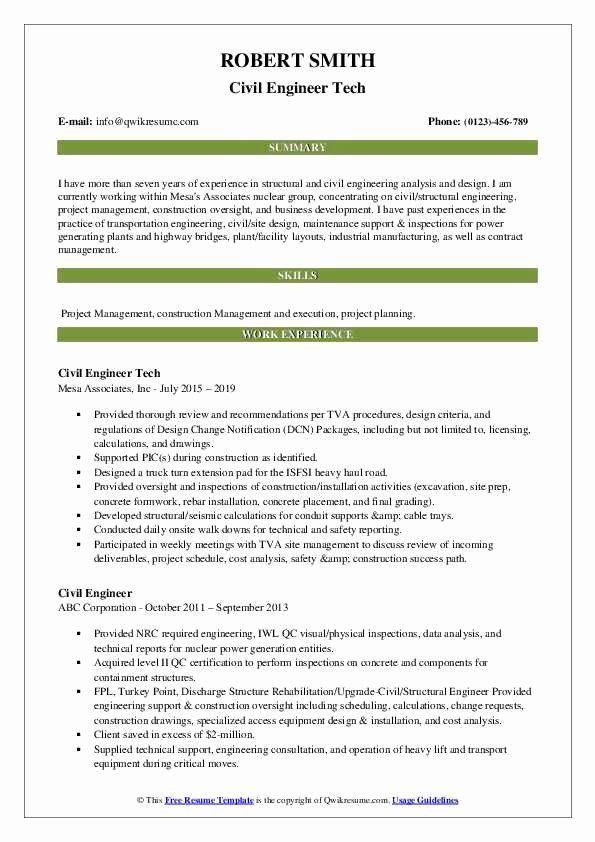 Civil Engineering Resume Examples Best Of Civil Engineer Resume Samples In 2020 Teacher Resume Examples Resume Examples Job Resume Samples