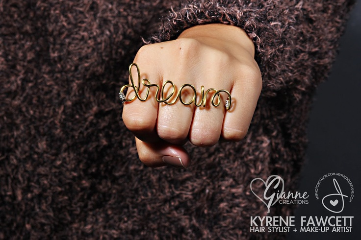 Custom 2 or 3-Finger Name Ring (Petite Collection - Thin Wire). $11.50, via Etsy.
