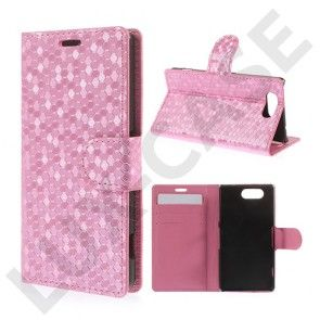 Football Checks Sony Xperia Z3 Compact Læder Flip Etui - Pink