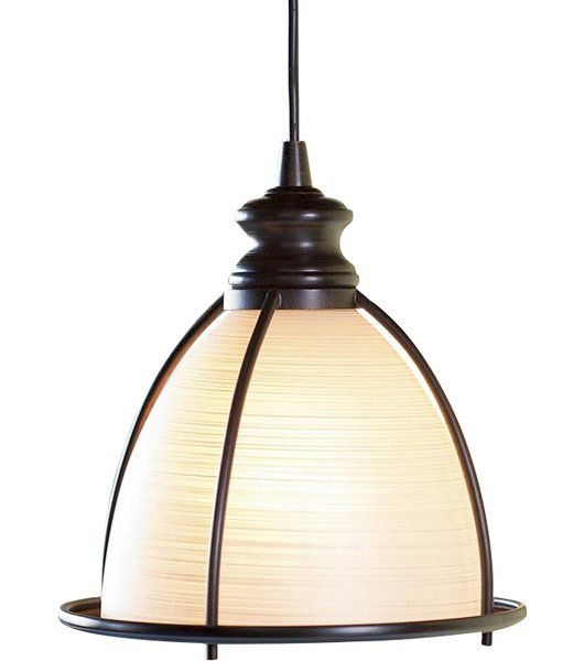 """Screw our Brushed Bronze and Glass Cage Pendant Light into any recessed light for an easy update without an electrician. Change your recessed lights to stylish, high quality pendants instantly: no wiring, no ceiling damage, no painting. <br/><br/>Just unscrew your old light bulb, screw in the adaptor, slide on the cover plate and flip the switch. The built-in spindle adjusts the cord length from 8-48""""L. Takes up to 75W bulb not included<br/><br/&g..."""