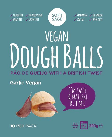 Vegan Dough balls, Garlic flavour *glutenfree *eggfree *vegan www.softsage.co.uk