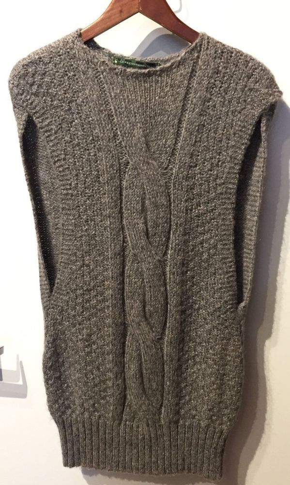 La Fée Maraboutée Grey Sleeveless Heavy-Knit Sweater Dress--Size 1 #LaFeMaraboute #Casual