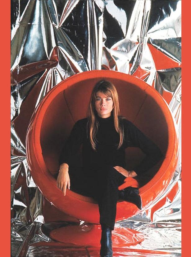 Françoise Hardy In An Eero Aarnio Ball Chair, 1966