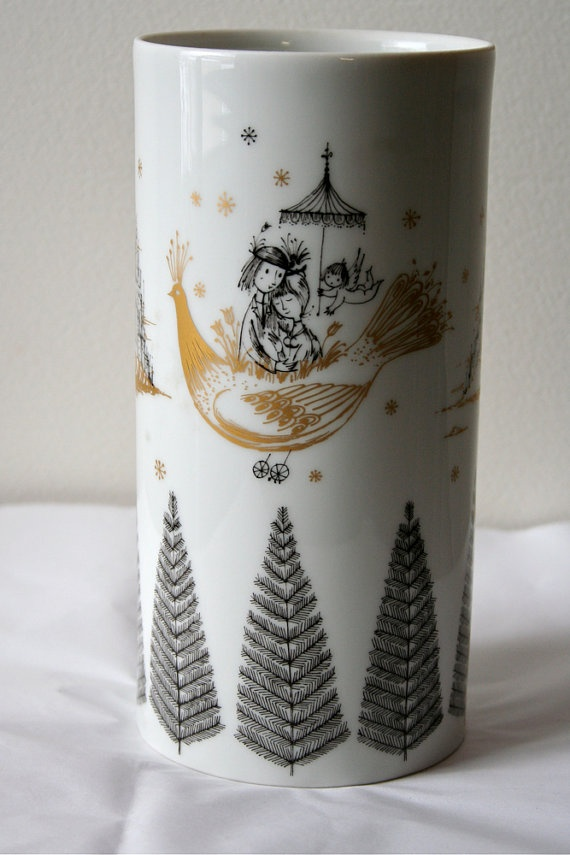 vintage Peynet Rosenthal vase