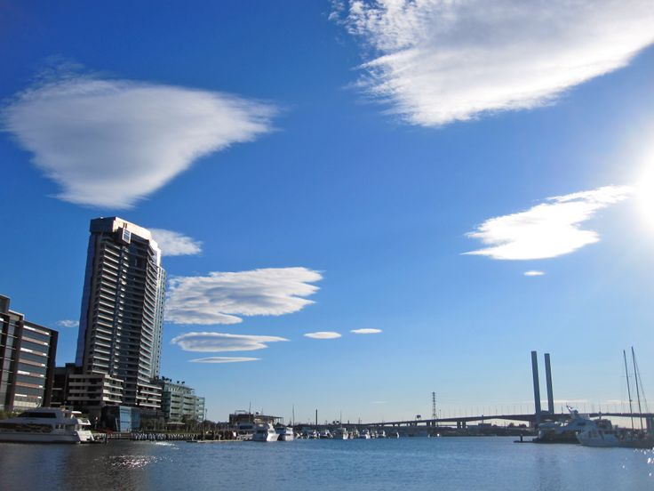 Melbourne's Docklands with an amazing cloud formation