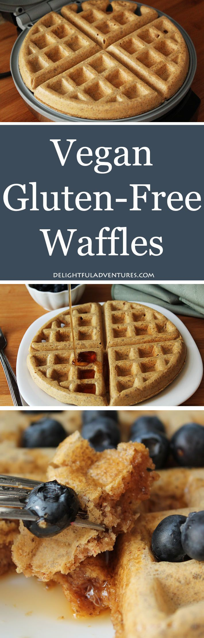 Easy Vegan Gluten-Free Waffles | #Waffles #Breakfast