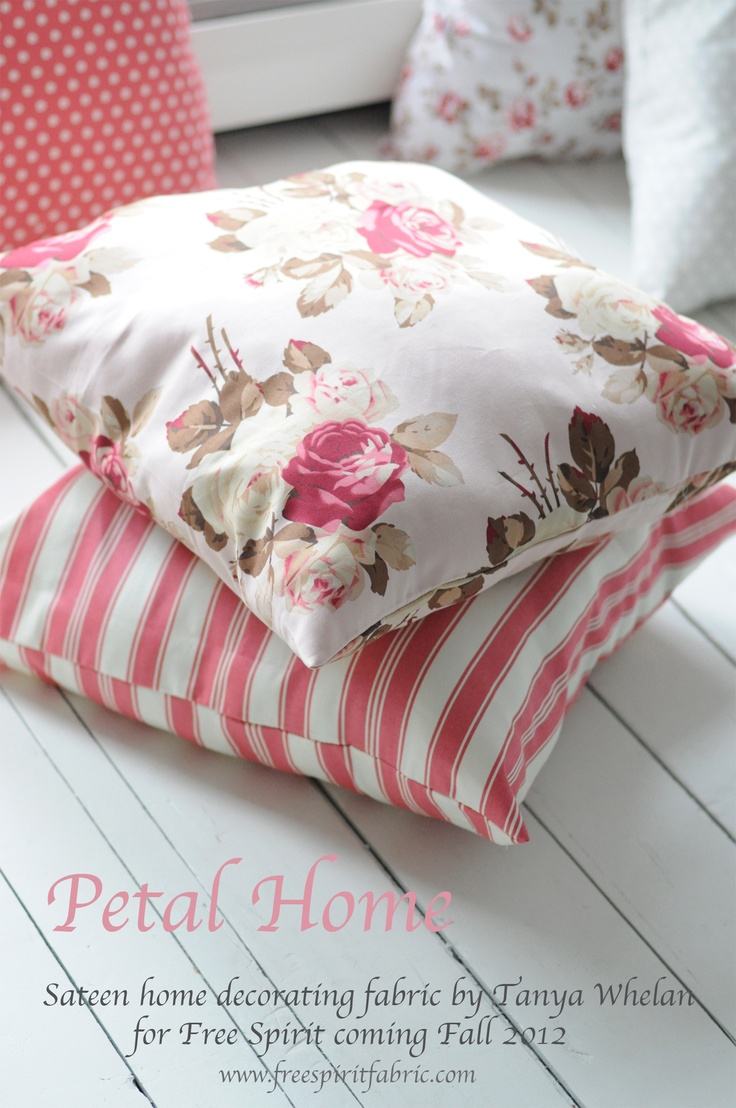 Petal Home by Tanya WhelanSewing Projects, Scattered Cushions, Rose Cottages, Petals, Revival Design, Cushions Design, Sewing Painting, Tanya Whelan, Cottages Charms