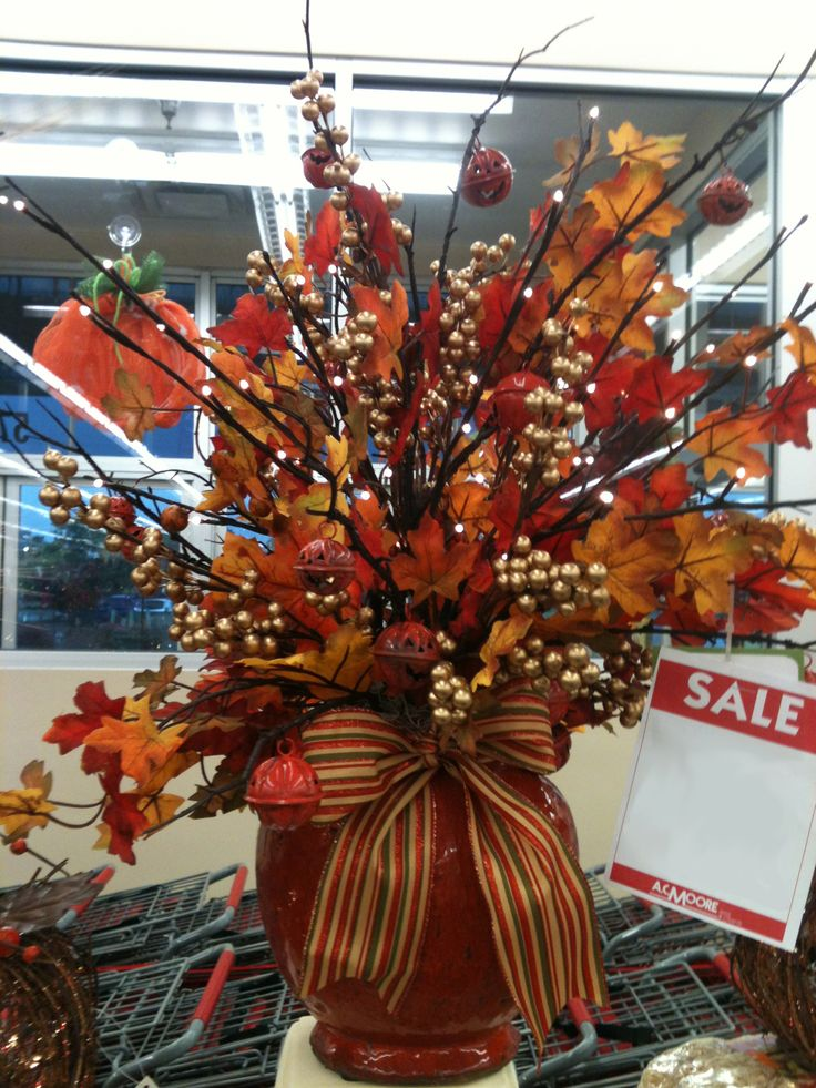 Fall floral arrangement designed by ac moore severna