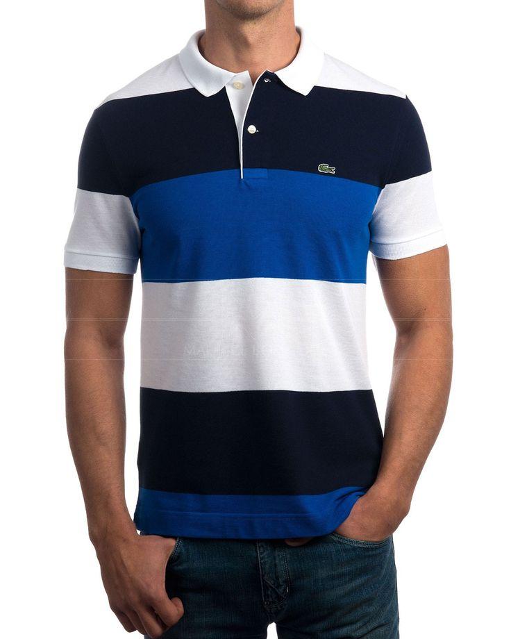 Polo Lacoste tricolor  Polo Lacoste 100% algodón piqué  Polo regular fit