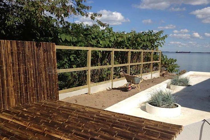 Bamboe tuinschermen en tuinschuttingen nl garden pinterest - Bamboe in bakken terras ...