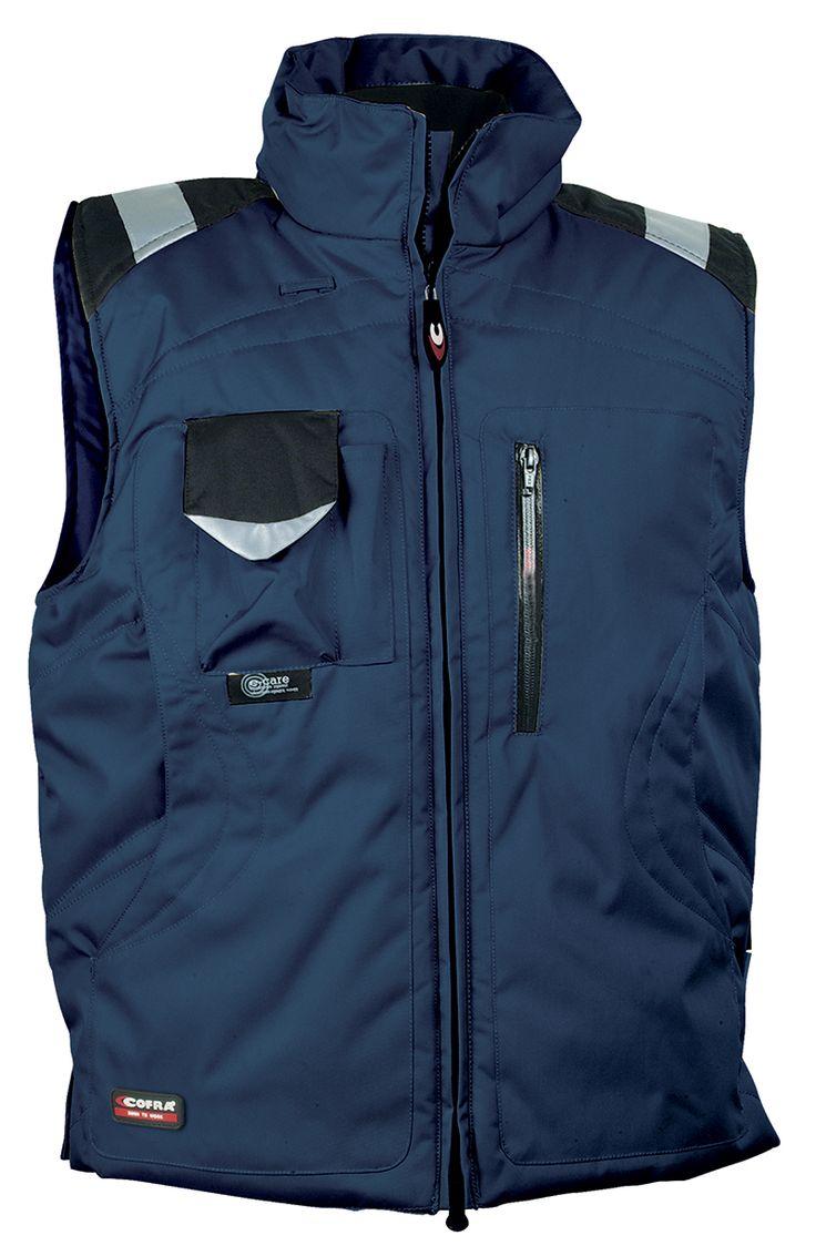 Chaleco acolchado COFRA 'Polar'. Azul marino / negro.