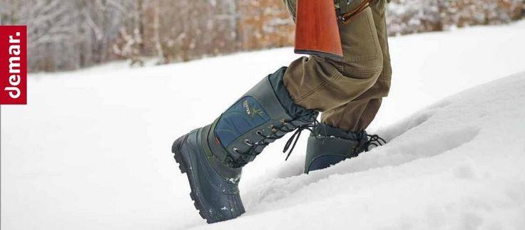 Сапоги зимние Demar Hunter Pro  Отличная зимняя обувь польского качества. Сегодня мы расскажем о сапогах, которые занимают достойное место в линейке обуви для любителей рыбалки и охоты. Сапоги Demar Hunter Pro - зимняя обувь с отличными тепловыми и износо