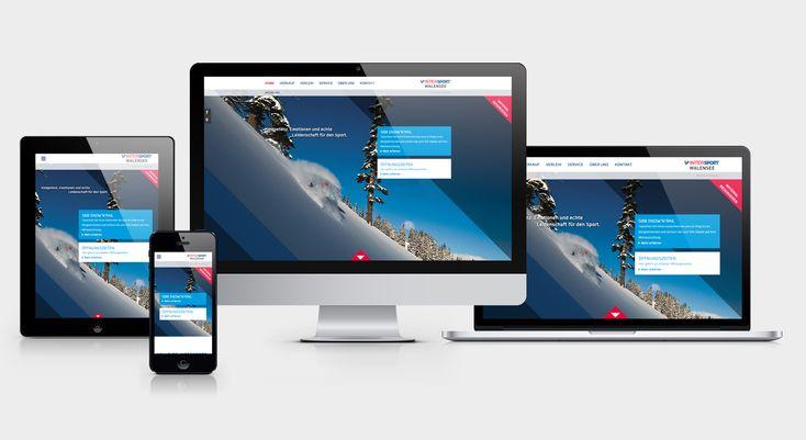 INTERSPORT WALENSEE - Responsive Website, Newsletter, 360° Panorama, Webdesign