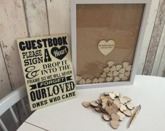 Personalised drop top guest book 100 x hearts by TheGuestbookCo