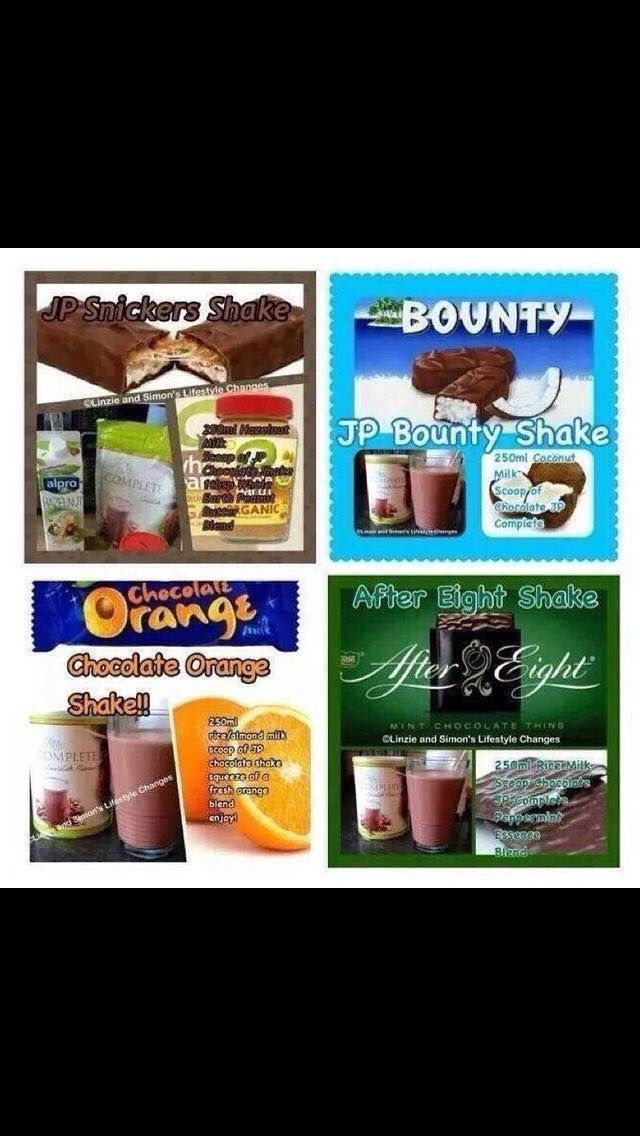 Great ideas for Juice Plus chocolate shakes.