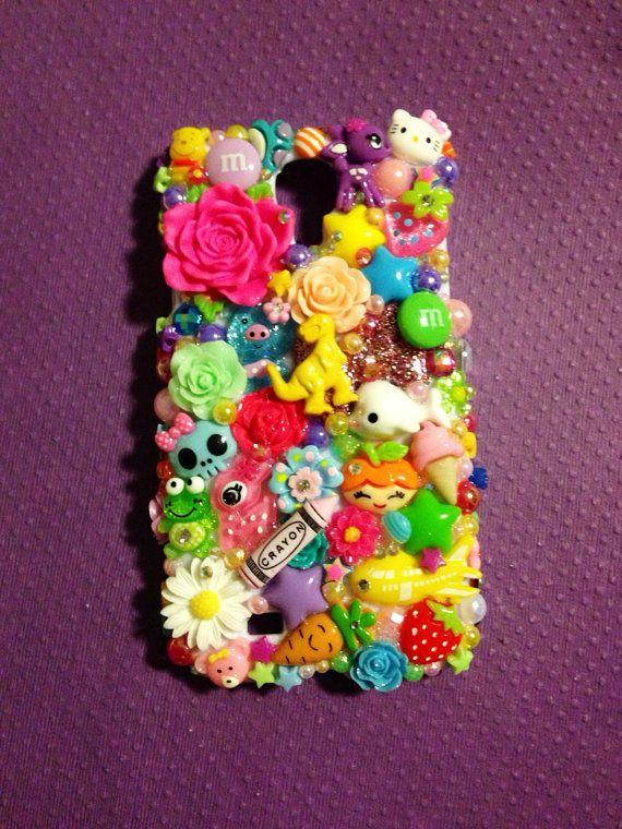 Samsung Galaxy S4 Kawaii Rainbow Bright  Decoden by KreativeKoala on Etsy