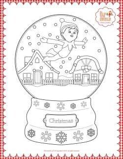 Elf On The Shelf Coloring Pages And Crafts Fun Christmas Fun For