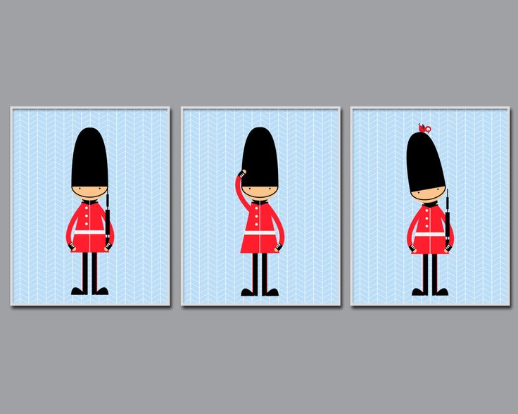 Toy soldiers Nursery Art English Guards Nursery Print by HopAndPop
