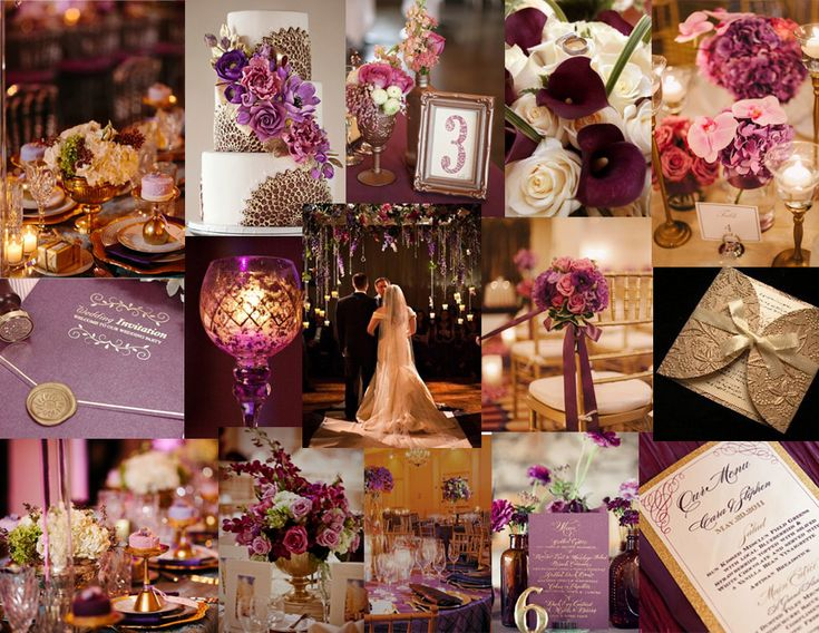 Plum and Champagne Wedding Colors | Plum/gold or plum/silver?