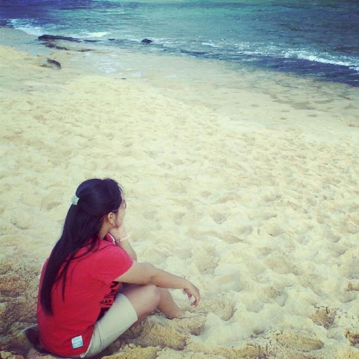 @sherlinda_octa in beach  PHOTO edit by Martha Santoso