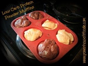 protein powder muffins 300x225 Low Carb Protein Powder Muffins {Recipe}