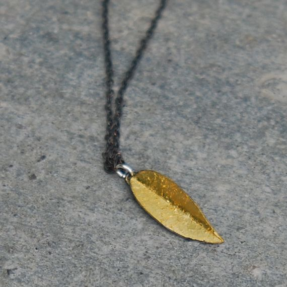 Silver and leaf gold.