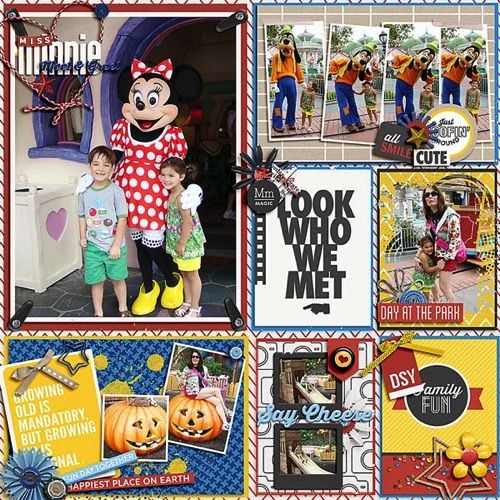Magic Memories Collection for your Disney Scrapbook | page by @lraewoo